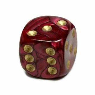 Perlmutt-Farbene Würfel Rot gold Punkte 6 Seitig