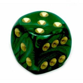Perlmutt-Farbene Würfel Grün gold Punkte 6 Seitig