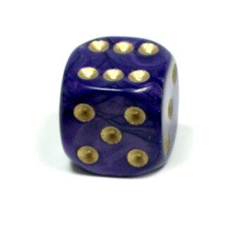 Perlmutt-Farbene Würfel Lila gold Punkte W6