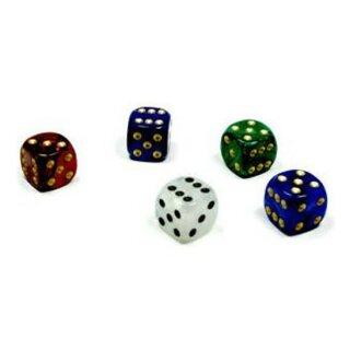 5 Perlmutt-Farbene Würfel im Farbmix