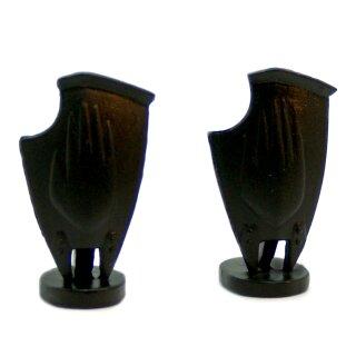 2 Schutz-Schilder Schwarz