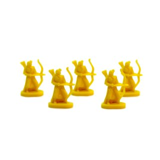 5 Bogenschützen in Gelb