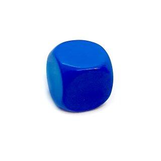 Blanko-Würfel Blau mit runden Ecken W6