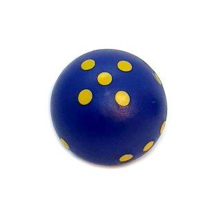 Rundwürfel bunt mit Punkten Blau - Gelb