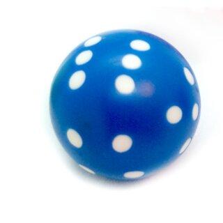 Rundwürfel bunt mit Punkten Blau - Weiß