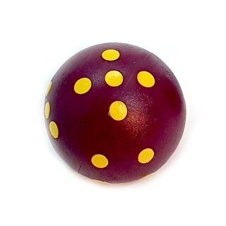 Rundwürfel bunt mit Punkten Bordeaux-Lila - Gelb
