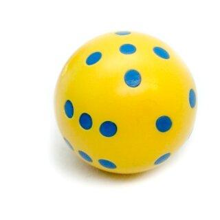 Rundwürfel bunt mit Punkten Gelb - Blau