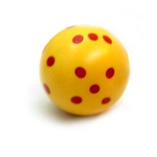Rundwürfel bunt mit Punkten Gelb - Rot