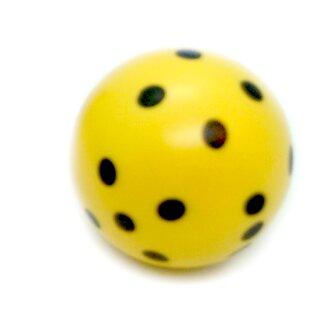 Rundwürfel bunt mit Punkten Gelb - Schwarz