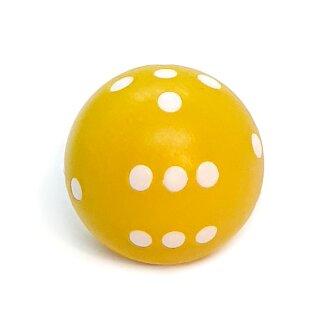 Rundwürfel bunt mit Punkten Gelb - Weiß