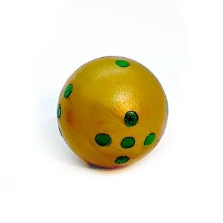 Rundwürfel bunt mit Punkten Gold - Grün