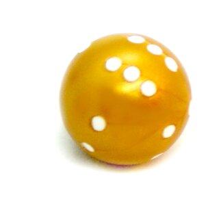 Rundwürfel bunt mit Punkten Gold - Weiß