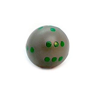 Rundwürfel bunt mit Punkten Grau - Grün
