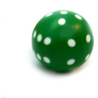 Rundwürfel bunt mit Punkten Grün - Weiß