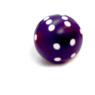 Rundwürfel bunt mit Punkten Lila - Weiß