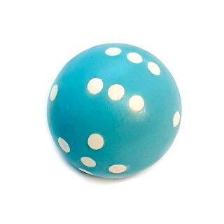Rundwürfel bunt mit Punkten Mint-Blau - Weiß