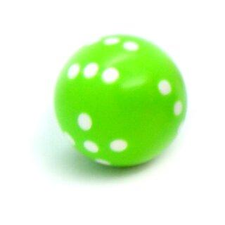 Rundwürfel bunt mit Punkten Neon-Grün - Weiß