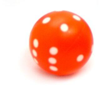 Rundwürfel bunt mit Punkten Neon-Orange - Weiß