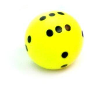 Rundwürfel bunt mit Punkten Neon-Gelb - Schwarz