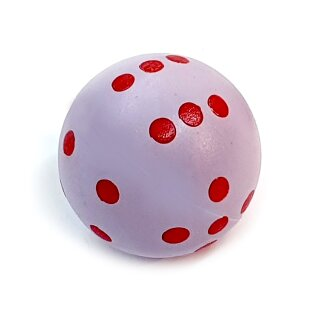 Rundwürfel bunt mit Punkten Pastell-Lila - Rot