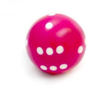 Rundwürfel bunt mit Punkten Pink - Weiß