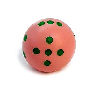 Rundwürfel bunt mit Punkten Rosa - Grün
