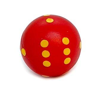 Rundwürfel bunt mit Punkten Rot - Gelb