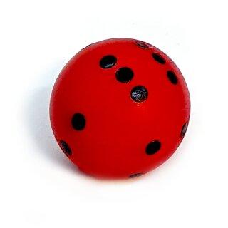 Rundwürfel bunt mit Punkten Rot - Schwarz
