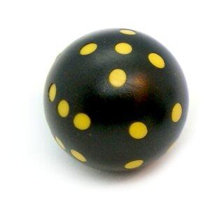 Rundwürfel bunt mit Punkten Schwarz - Gelb