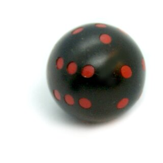Rundwürfel bunt mit Punkten Schwarz - Rot
