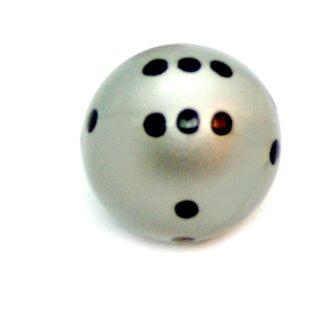 Rundwürfel bunt mit Punkten Silber - Schwarz
