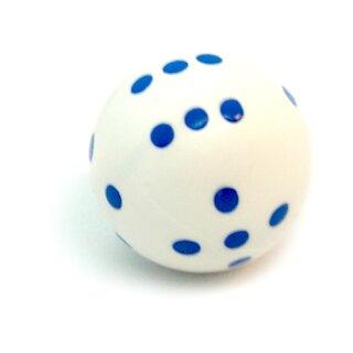 Rundwürfel bunt mit Punkten Weiß - Blau