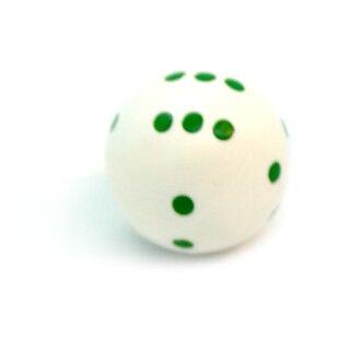 Rundwürfel bunt mit Punkten Weiß - Grün