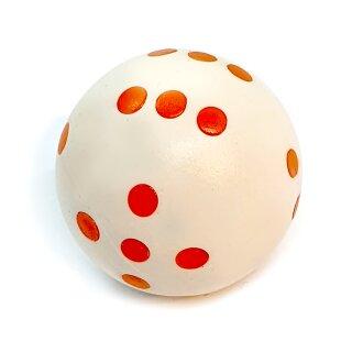 Rundwürfel bunt mit Punkten Weiß - Orange