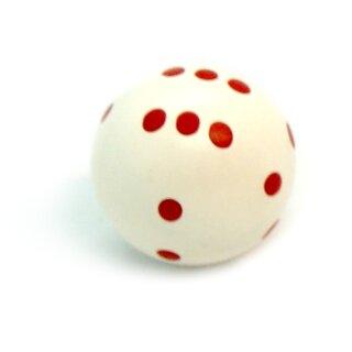 Rundwürfel bunt mit Punkten Weiß - Rot