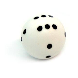 Rundwürfel bunt mit Punkten Weiß - Schwarz