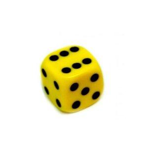 Bunte W6 Würfel 12mm mit Punkten Gelb