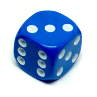 Bunte W6 Würfel 12mm mit Punkten Blau