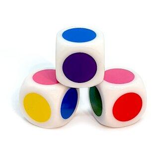 Farb-Würfel /Twister Würfel W6 16mm Weiß Spiele-würfel