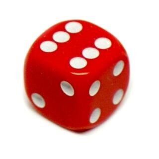 10er Pack 6-Seitiger Würfel Rot Punkte
