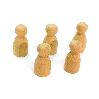Pöppel Spielfiguren aus Holz Natur unlackiert