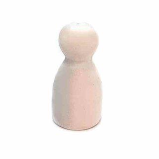 Pöppel Spielfiguren aus Holz Weiß
