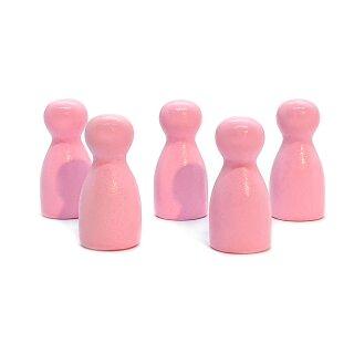 Pöppel Spielfiguren aus Holz Rosa