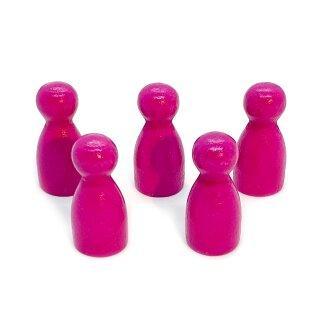 Pöppel Spielfiguren aus Holz Pink