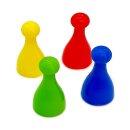 4 Pöppel / Spielfiguren aus Kunststoff Gelb
