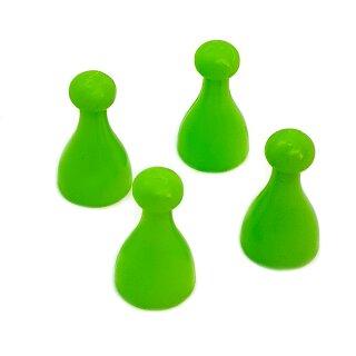 4 Pöppel / Spielfiguren aus Kunststoff Grün