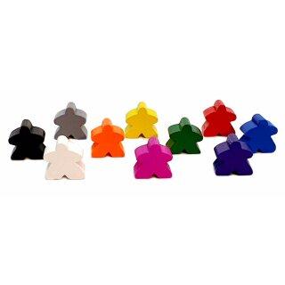 Spielfiguren aus Holz 15 x 16mm Bunt Carcassonne