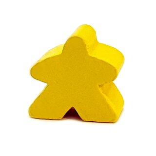 Spielfiguren aus Holz 15 x 16mm Gelb