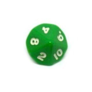 10-Seitige Würfel Grün mit Zahlen 1-10 W10