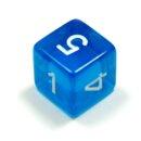 W6 Würfel Blau-Transparent Zahlen Gerade Kanten 15mm